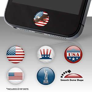 Patriotic Fat Dots Stickers