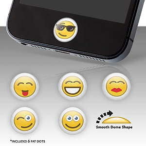 Emoticons Fat Dots Stickers