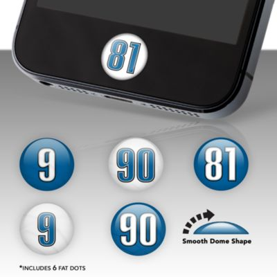 Detroit Lions Player Number Fat Dots Stickers