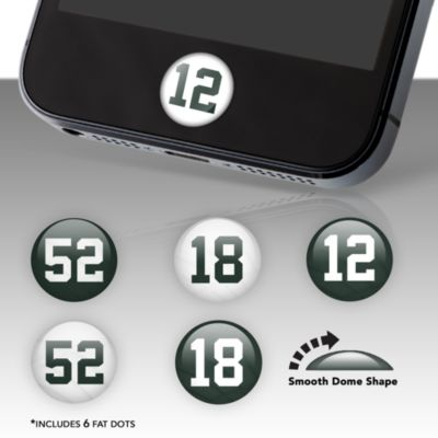 Green Bay Packers Player Number Fat Dots