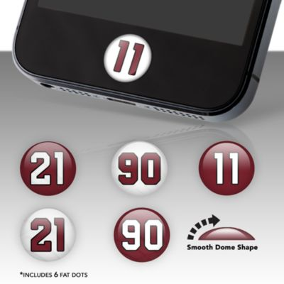 Arizona Cardinals Player Number Fat Dots Stickers