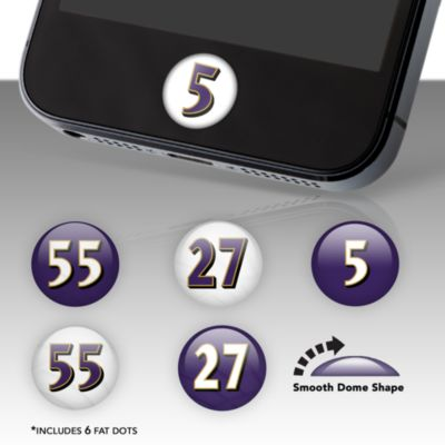 Baltimore Ravens Player Number Fat Dots Stickers