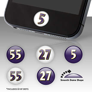 Baltimore Ravens Player Number Fat Dots