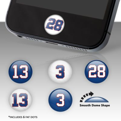 Buffalo Bills Player Number Fat Dots Stickers