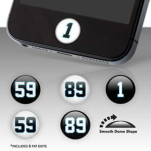 Carolina Panthers Player Number Fat Dots Stickers