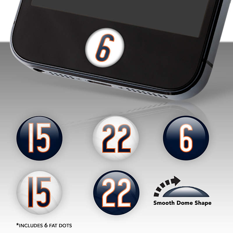 Chicago bears player number fat dots for Belly button bears wall mural