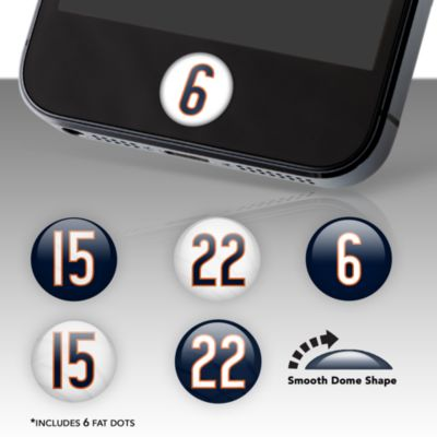 Chicago Bears Player Number Fat Dots Stickers