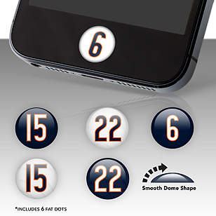 Chicago Bears Player Number Fat Dots