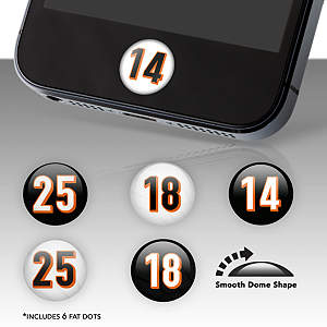 Cincinnati Bengals Player Number Fat Dots Stickers