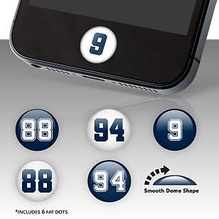 Dallas Cowboys Player Number Fat Dots