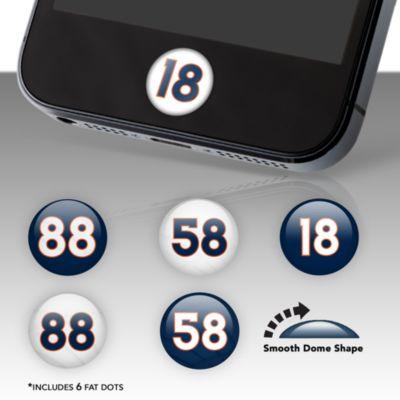 Denver Broncos Player Number Fat Dots