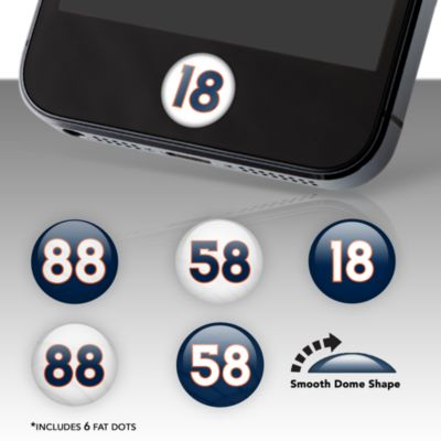 Denver Broncos Player Number Fat Dots Stickers