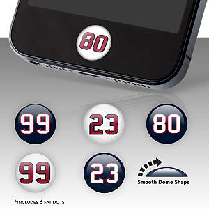 Houston Texans Player Number Fat Dots Stickers
