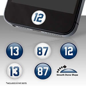 Indianapolis Colts Player Number Fat Dots Stickers