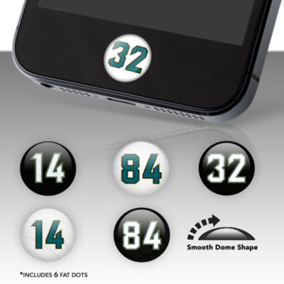Jacksonville Jaguars Player Number Fat Dots Stickers