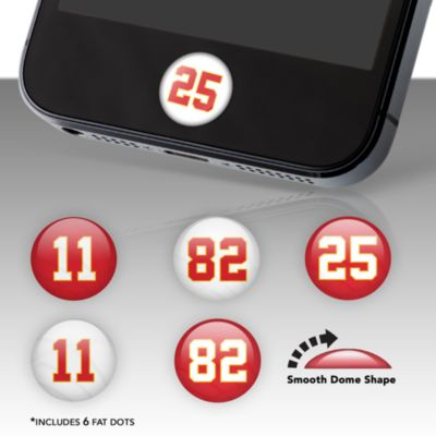Kansas City Chiefs Player Number Fat Dots Stickers