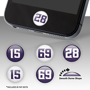 Minnesota Vikings Player Number Fat Dots Stickers