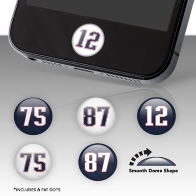 New England Patriots Player Number Fat Dots Stickers