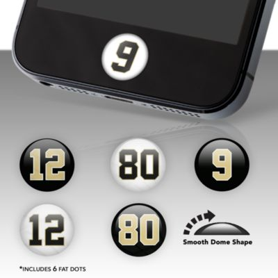 New Orleans Saints Player Number Fat Dots Stickers