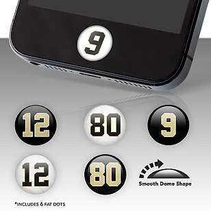 New Orleans Saints Player Number Fat Dots