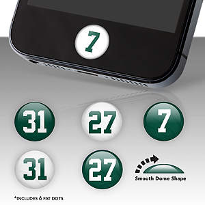 New York Jets Player Number Fat Dots Stickers
