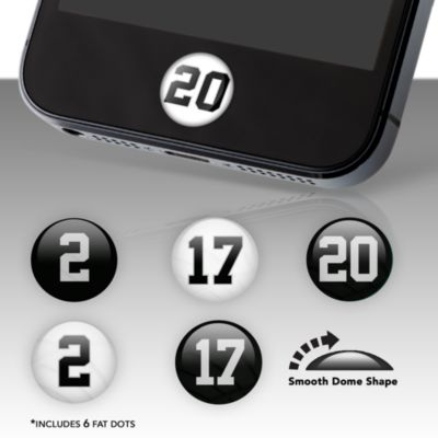 Oakland Raiders Player Number Fat Dots Stickers
