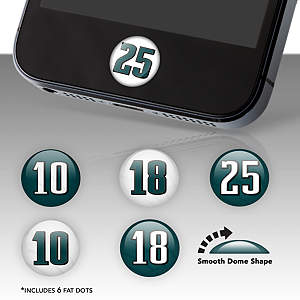 Philadelphia Eagles Player Number Fat Dots Stickers