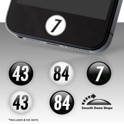 Pittsburgh Steelers Player Number Fat Dots Stickers