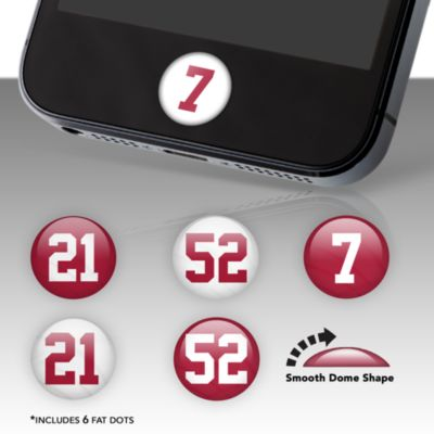 San Francisco 49ers Player Number Fat Dots Stickers