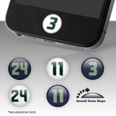 Seattle Seahawks Player Number Fat Dots Stickers