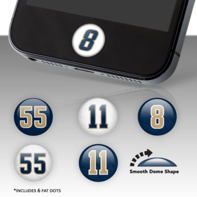 St. Louis Rams Player Number Fat Dots Stickers