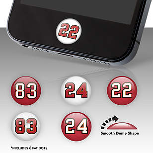 Tampa Bay Buccaneers Player Number Fat Dots