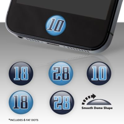 Tennessee Titans Player Number Fat Dots Stickers