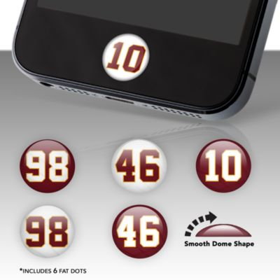 Washington Redskins Player Number Fat Dots Stickers