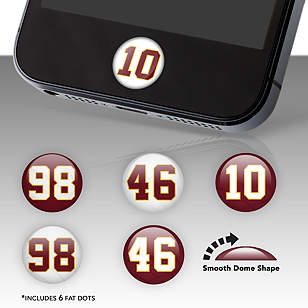 Washington Redskins Player Number Fat Dots