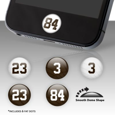 Cleveland Browns Player Number Fat Dots Stickers