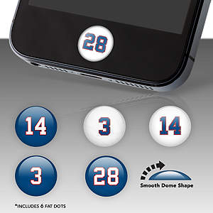 Buffalo Bills Player Numbers Fat Dots Stickers