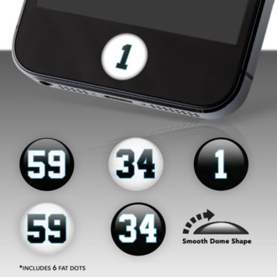 Carolina Panthers Player Numbers Fat Dots Stickers