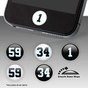 Carolina Panthers Player Numbers Fat Dots