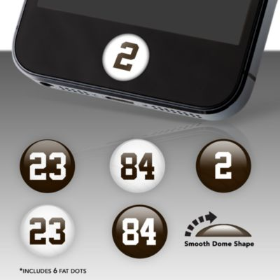 Cleveland Browns Player Numbers Fat Dots Stickers