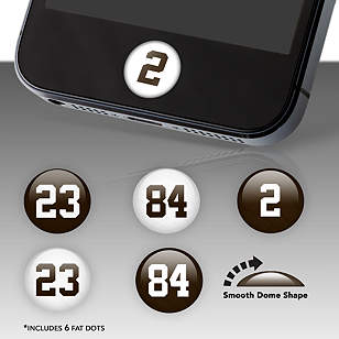 Cleveland Browns Player Numbers Fat Dots