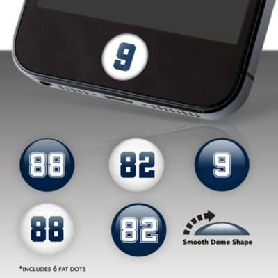 Dallas Cowboys Player Numbers Fat Dots
