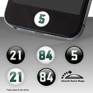 Jacksonville Jaguars Player Numbers Fat Dots Stickers