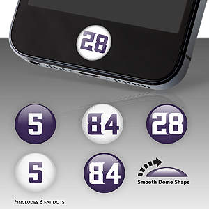 Minnesota Vikings Player Numbers Fat Dots Stickers