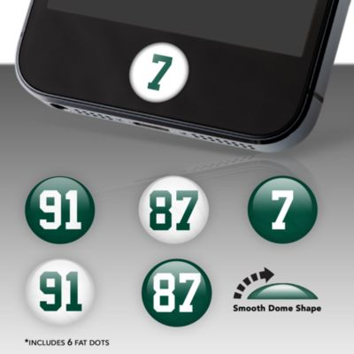 New York Jets Player Numbers Fat Dots