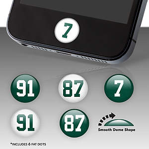 New York Jets Player Numbers Fat Dots Stickers
