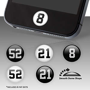 Oakland Raiders Player Numbers Fat Dots Stickers