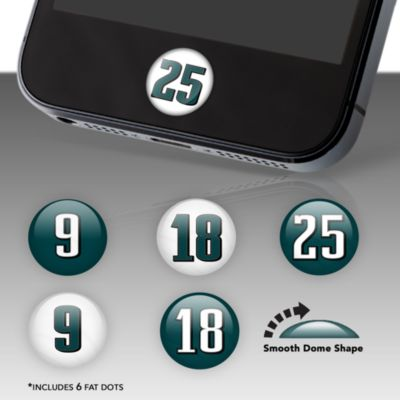 Philadelphia Eagles Player Numbers Fat Dots