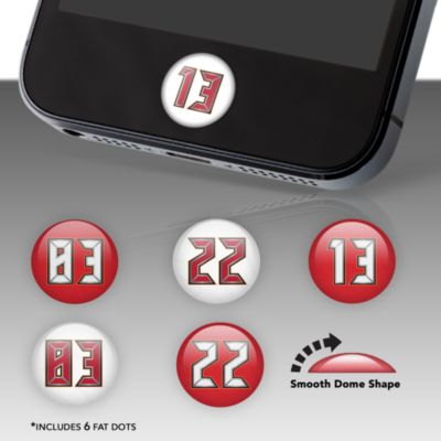 Tampa Bay Buccaneers Player Numbers Fat Dots Stickers