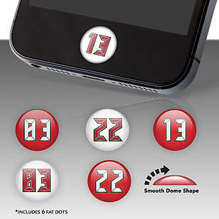 Tampa Bay Buccaneers Player Numbers Fat Dots